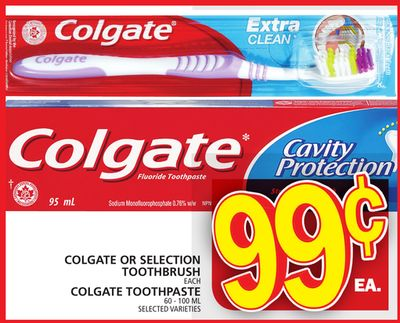 Colgate Or Selection Toothbrush or Colgate Toothpaste