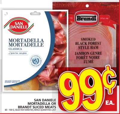 San Daniele Mortadella Or Brandt Sliced Meats