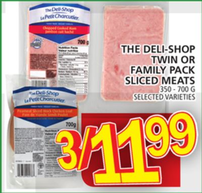The Deli-shop Twin Or Family Pack Sliced Meats
