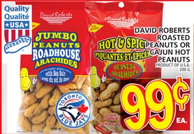 David Roberts Roasted Peanuts Or Cajun Hot Peanuts