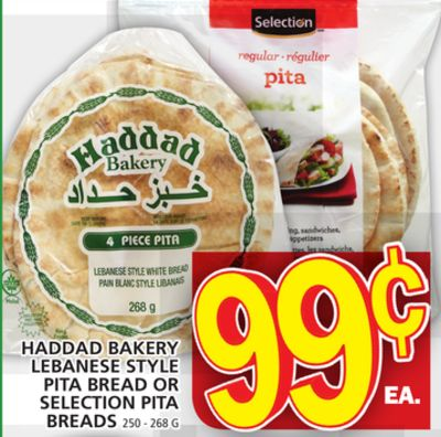 Haddad Bakery Lebanese Style Pita Bread Or Selection Pita Breads