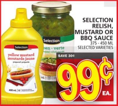 Selection Relish - Mustard Or Bbq Sauce