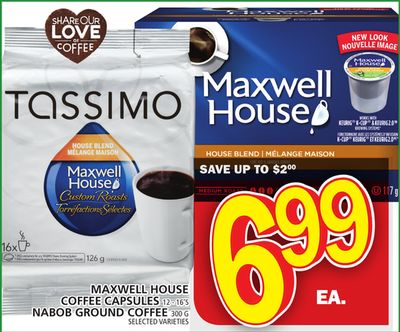 Maxwell House Coffee Capsules Or Nabob Ground Coffee