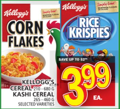 Kellogg's Cereal Or Kashi Cereal