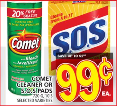 Comet Cleaner Or S.o.s Pads