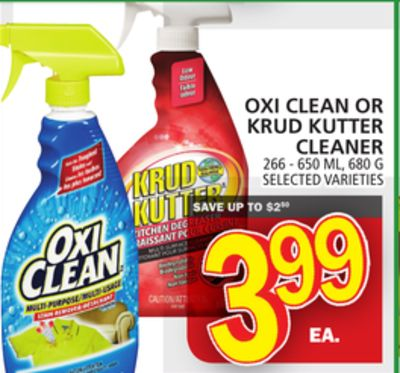 Oxi Clean Or Krud Kutter Cleaner
