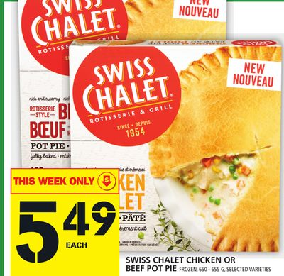 Swiss Chalet Chicken Or Beef Pot Pie