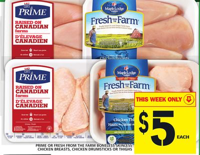 Prime Or Fresh From The Farm Boneless Skinless Chicken Breasts - Chicken Drumsticks Or Thighs