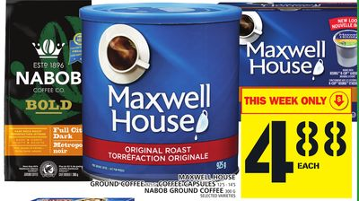 Maxwell House Ground Coffee 925 G Coffee Capsules Or Nabob Ground Coffee