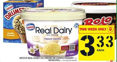 Nestlé Real Dairy Ice Cream Or Confectionary Or Novelties