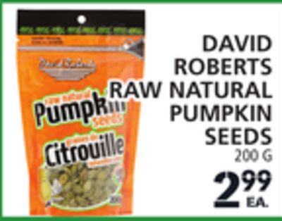 David Roberts Raw Natural Pumpkin Seeds