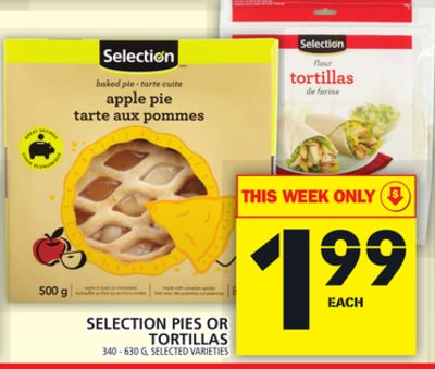 Selection Pies Or Tortillas