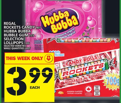 Regal Rockets Candy Or Hubba Bubba Bubble GUM Or Selection Lollipops