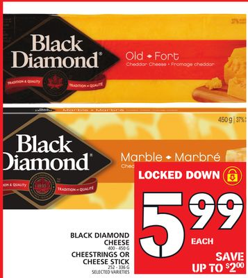 Black Diamond Cheese Or Cheestrings Or Cheese Stick