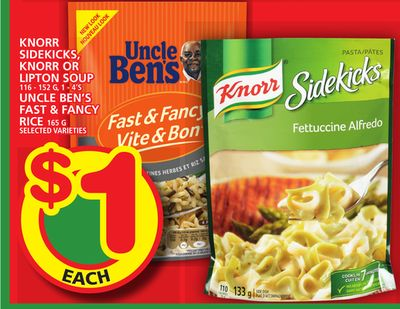Knorr Sidekicks - Knorr Or Lipton Soup Or Uncle Ben's Fast & Fancy Rice
