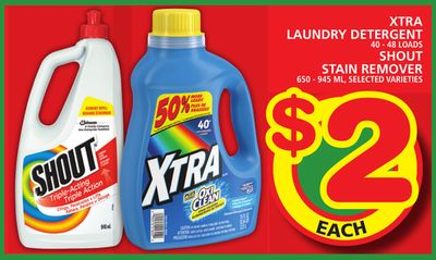 Xtra Laundry Detergent Or Shout Stain Remover