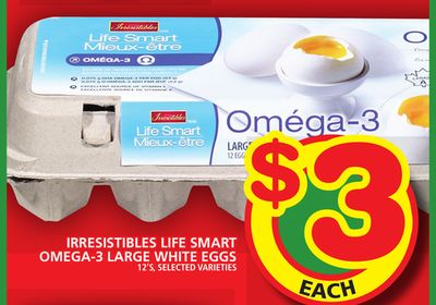 Irresistibles Life Smart Omega-3 Large White Eggs
