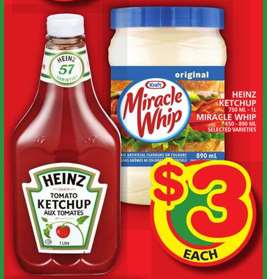 Heinz Ketchup Or Miracle Whip