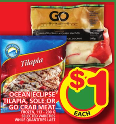 Ocean Eclipse Tilapia - Sole Or Go Crab Meat