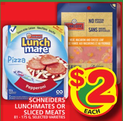 Schneiders Lunchmates Or Sliced Meats
