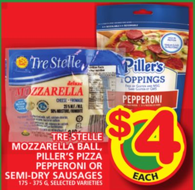 Tre Stelle Mozzarella Ball - Piller's Pizza Pepperoni Or Semi-dry Sausages