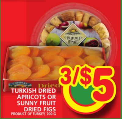 Turkish Dried Apricots Or Sunny Fruit Dried Figs