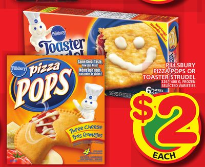 Pillsbury Pizza Pops Or Toaster Strudel
