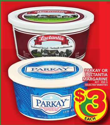 Parkay Or Lactantia Margarine