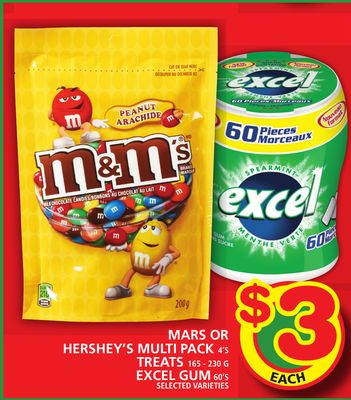 Mars Or Hershey's Multi Pack Or Treats Or Excel GUM