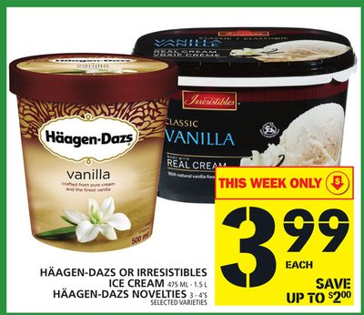Häagen-dazs Or Irresistibles Ice Cream