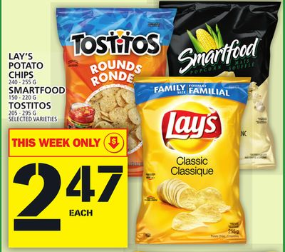 Lay's Potato Chips Or Smartfood Or Tostitos
