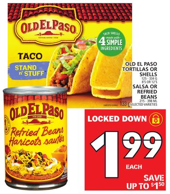 Old El Paso Tortillas Or Shells Or Salsa Or Refried Beans