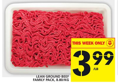 Lean Ground Beef Family Pack - 8.80/kg