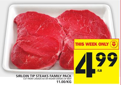 Sirloin Tip Steaks Family Pack