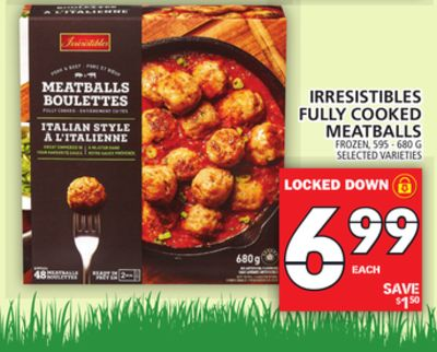 Irresistibles Fully Cooked Meatballs