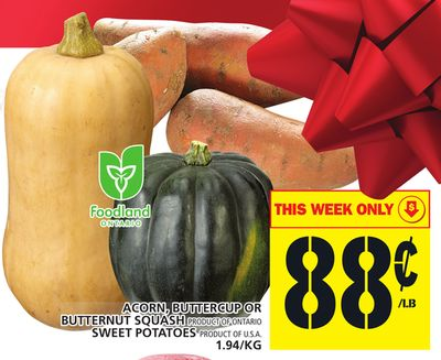 Acorn - Buttercup Or Butternut Squash Or Sweet Potatoes