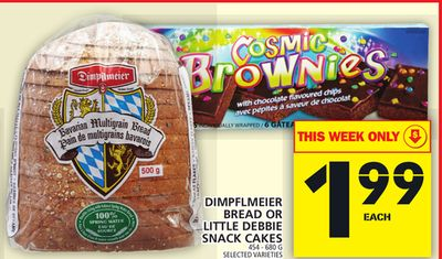 Dimpflmeier Bread Or Little Debbie Snack Cakes