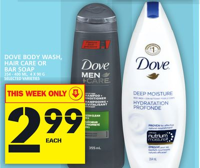 Dove Body Wash - Hair Care Or Bar Soap