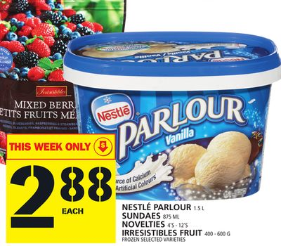 Nestle Parlour Or Sundaes Or Novelties Or Irresistibles Fruit