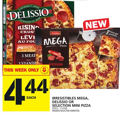 Irresistibles Mega - Delissio Or Selection Mini Pizza