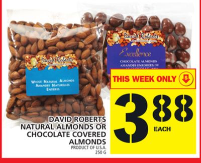 David Roberts Natural Almonds Or Chocolate Covered Almonds