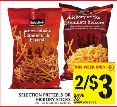 Selection Pretzels Or Hickory Sticks