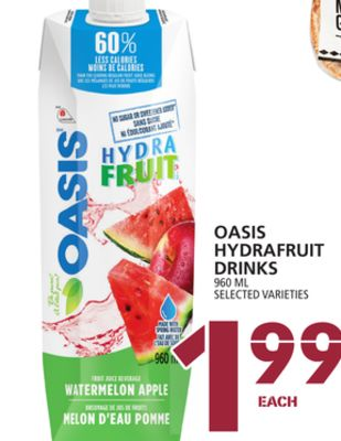 Oasis Hydrafruit Drinks