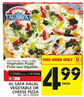 Al Safa Halal Vegetable Or Cheese Pizza
