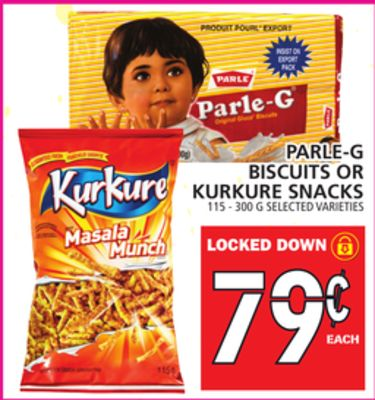 Parle-g Biscuits Or Kurkure Snacks