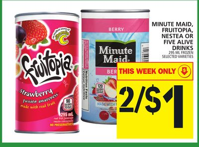Minute Maid - Fruitopia - Nestea Or Five Alive Drinks