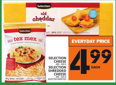 Selection Cheese or Selection Shredded Cheese