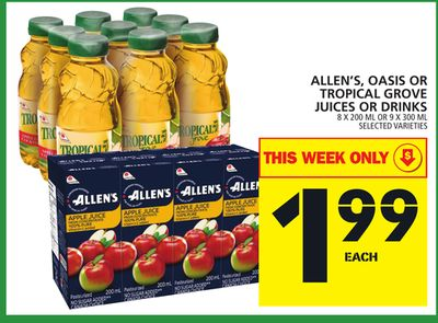 Allen's - Oasis Or Tropical Grove Juices Or Drinks