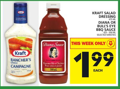 Kraft Salad Dressing Or Diana Or Bull's Eye Bbq Sauce