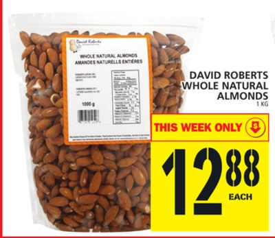 David Roberts Whole Natural Almonds